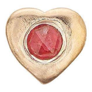 Ruby Heart forgyldt 925 sterling sølv  Collect urskive pynt smykke fra Christina Collect